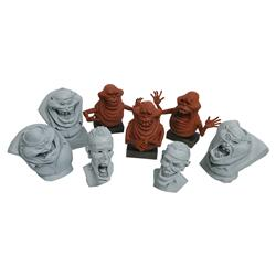 Collection of Slimer and Scaleri Brothers maquettes from Ghostbusters II