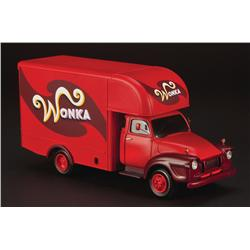 Miniature Wonka delivery van from Charlie and the Chocolate Factory