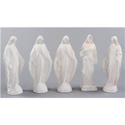 Collection of religious plaster statues from Angels & Demons