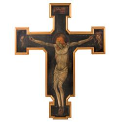 Ornate framed Crucifix painting from Angels & Demons