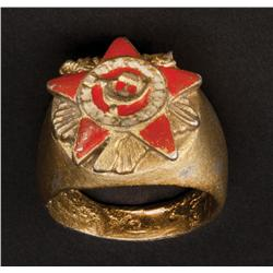 "Daniel Olbrychski ""Vassily Orlov"" Soviet military ring from Salt"