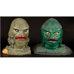 Set of 4 Gillman foam latex castings from Creature From the Black Lagoon and Revenge of the Creature