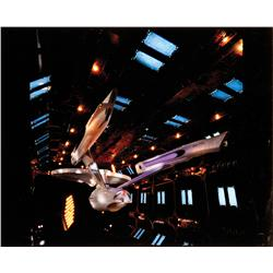 Collection of 16 in. x 20 in. Cibachrome photos of Enterprise in drydock from Star Trek: TMP