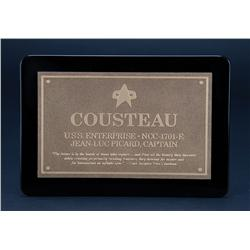 """Cousteau"" commissioning plaque from Star Trek: Insurrection"
