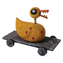 Double-scale duck toy with teeth from The Nightmare Before Christmas