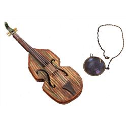 Grasshopper's violin and monocle from James and the Giant Peach