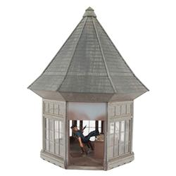 Prison guard tower filming miniature from The Man Who Wasn't There
