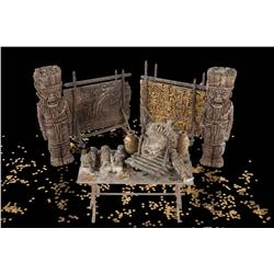 Aztec/Mayan artifacts from the treasure room in National Treasure