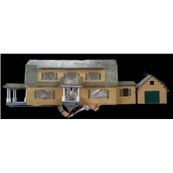 Fiber optic miniature house from Deck the Halls