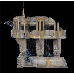 """Building ruins and figures from Halo 3 """"Believe"""" advertising campaign"""