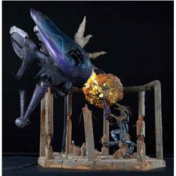 "Banshee spaceship, Jackal figure and building ruins from Halo 3 ""Believe"" advertising campaign"