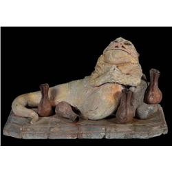 Jabba the Hutt and throne approved prototype maquette from Star Wars: Episode VI –Return of the Jedi