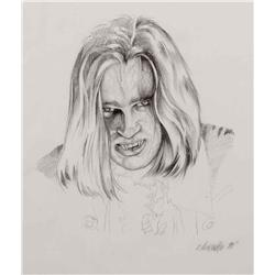 "Concept drawing of Brad Pitt as a monstrous ""Louis"" from Interview with the Vampire"