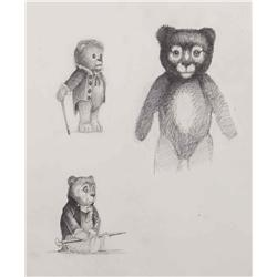 Conceptual artwork for Teddy Bear animatronic from AI: Artificial Intelligence