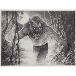Stan Winston Studios conceptual artwork for werewolf character