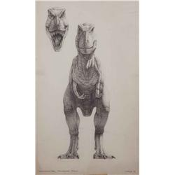 "Mark ""Crash"" McCreery conceptual artwork for T-Rex from Jurassic Park"