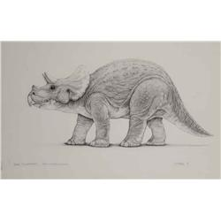 "Mark ""Crash"" McCreary conceptual artwork for Baby Triceratops from Jurassic Park"