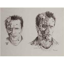 "Conceptual artwork for Arnold Schwarzenegger ""The Terminator"" from T2: Judgment Day"