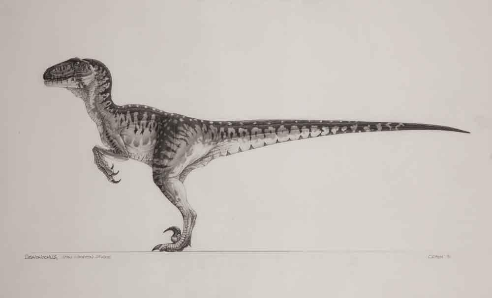 "Mark ""Crash"" McCreary conceptual artwork for Deinonychus ..."