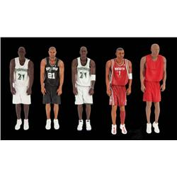 Set of small-scale NBA basketball player puppets from Adidas commercial