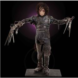 Original screen-used Johnny Depp costume and display from Edward Scissorhands