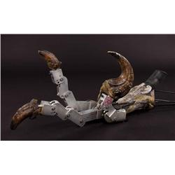 Articulated Raptor foot from Jurassic Park and Velociraptor arms from Jurassic Park III