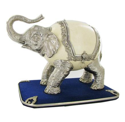 Ostrich Egg Elephant Jewelry Box CLB685