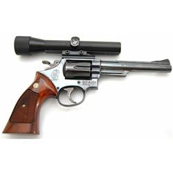 Rare Smith & Wesson Model 53, marked 22 magnum (.22 Remington Jet Center Fire Cartridge) w/Scope