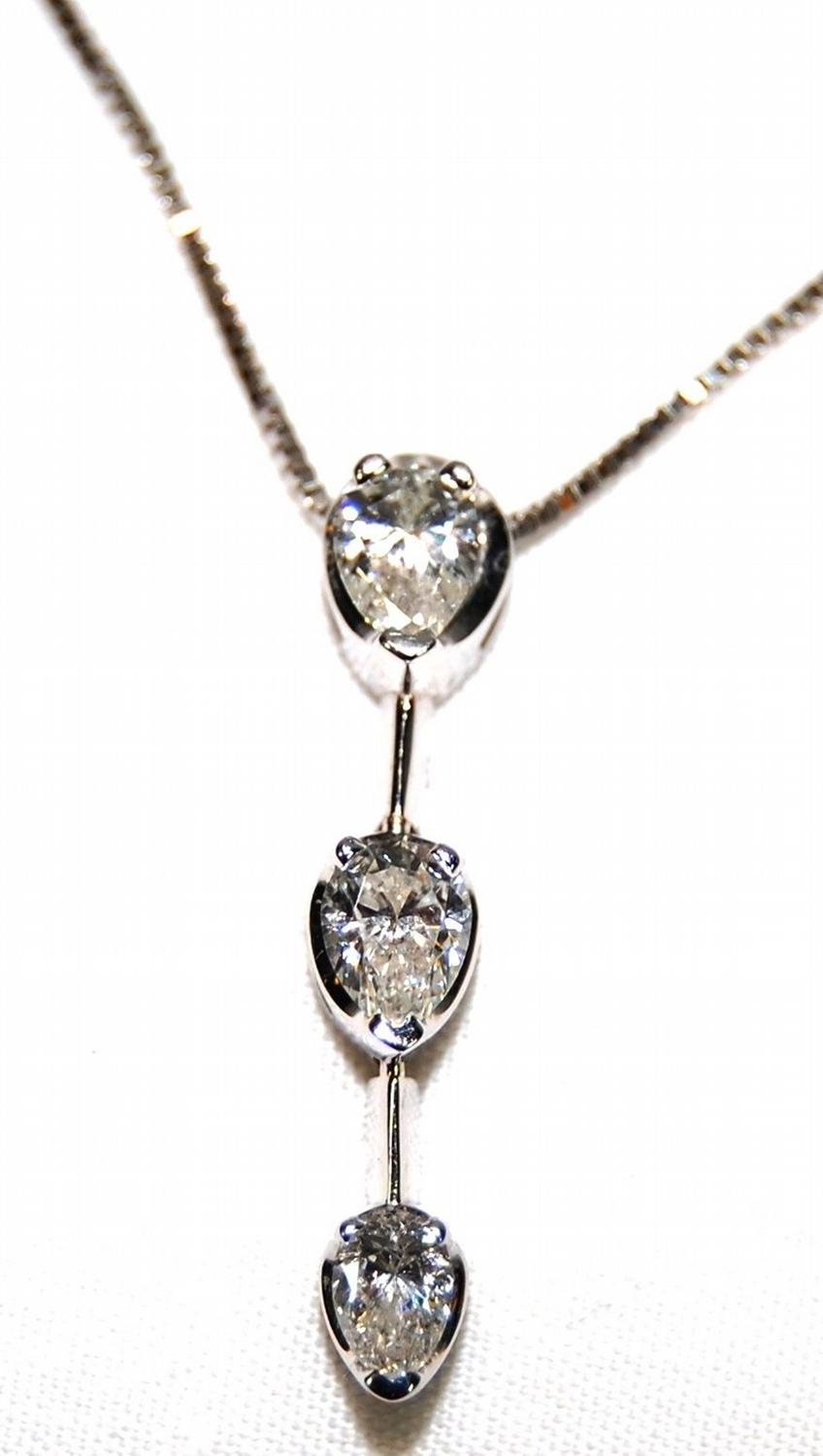 necklaces jewelry pendant shaped marsha by pear diamond necklace