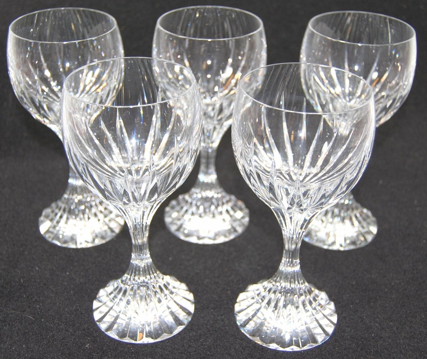 Set of 14 baccarat crystal glasses water wine champagne - Baccarat stemware ...