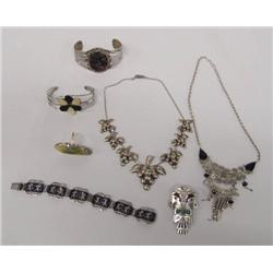 Collection Of Ethnic Silver Jewelry
