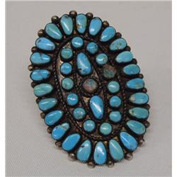 Navajo Turquoise Ring Size 9 1/2