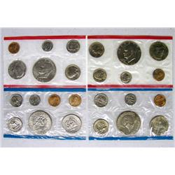 4 US Mint Uncirculated Coin Sets, 2-1974 2-1976