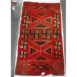 Turn of the Century Navajo Whirling Log Rug