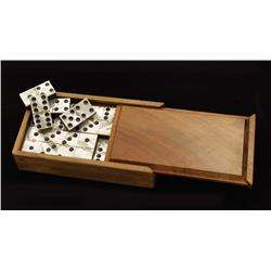 Mother-of-Pearl Domino Set