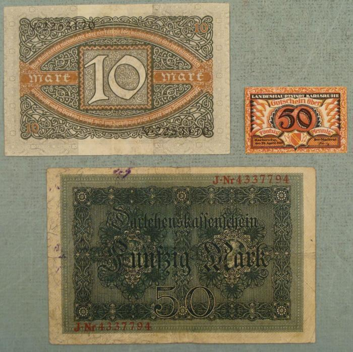 marking papers for money Values of the most important german banknotes of the inflation period from 1920 collector values of the other old german banknotes: this is an 10,000 mark banknote from germany which was issued 1922: the young republic of weimar had no money.