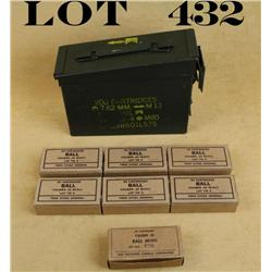 Collectible lot of 7 boxes of 50 cartridges  .45 caliber ball M1911 ammo in tan colored  boxes by Ol