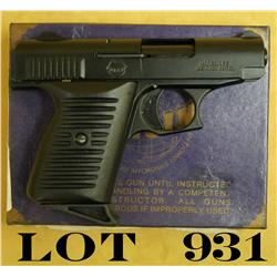 "Lorcin Model L22 semi-auto pocket pistol, .22  cal., 2-1/2"" barrel, black finish, hard  rubber black"