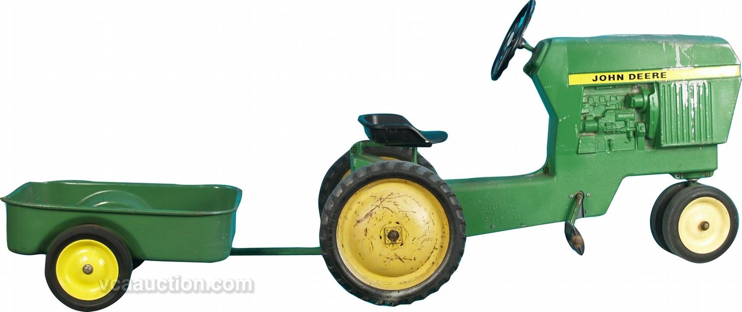 John Deere Tractor Cars : John deere pedal tractor wagon the