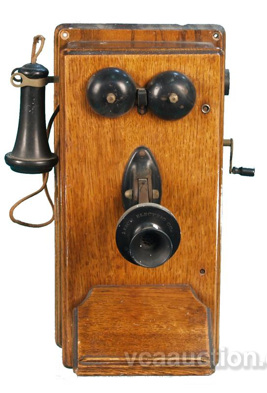 Early Wall Mount Wooden Telephone