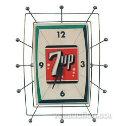 Metal & Masonite 7UP Clock