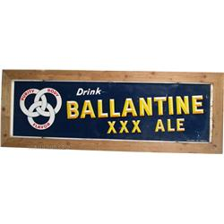 Large Drink Ballantine XXX Ale Tin Sign