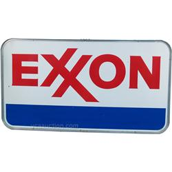 "Large ""EXXON"" Double Sided Porcelain Sign"