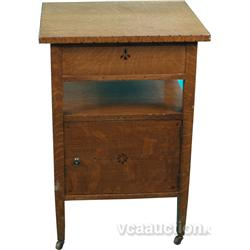 Early Embossed Oak Mission Style Side Table