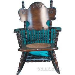 Bent Wood Rocking Chair w/ Spindles