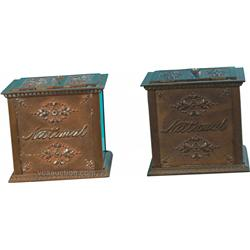 Lot Of 2 National Cash Register Receipt Boxes
