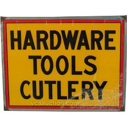 """Hardware Tools Cutlery"" Double Sided Glass Sign,"