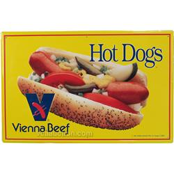 Vienna Beef Hoty Dogs Self-Framed Tin Sign -