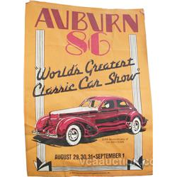 "Large Auburn '86 Canvas Banner Advertising ""World's"
