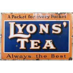"Large Lyons' Tea"" Porcelain Sign"